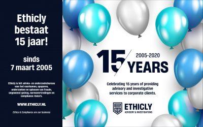 Ethicly bestaat 15 jaar!